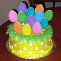An Easter cake decoration idea I'm considering for this weekend...