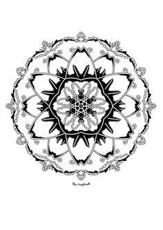 #mandala #zentangle #arttherapie #coloriagedulte #coloriagezen #coloriage Compass Tattoo, Zentangle, Mandala, Creations, Symbols, Tattoos, Art Therapy, Tatuajes, Icons