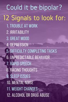 Bipolar Disorder (BPD) can be very disruptive, but it is also very treatable. This post looks at 12 common signs of bipolar. Symptoms Of Bipolar Depression, Bipolar Depression Treatment, What Causes Depression, Fighting Depression, Depression Help, Depression Remedies, Bipolar Quotes, Living With Bipolar Disorder, Get Skinny
