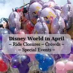 Disney World Tips & Tricks / Walt Disney World in April - Ride Closures - Crowds - Special Events Information available at http://www.buildabettermousetrip.com/wdw-april-crowds-closures-special-events/