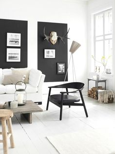 white and black colors/colours - living - zwart en wit tinten - woonkamer