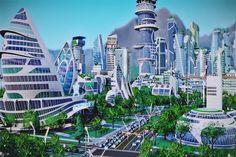 Futuristische Städteplanung: Metropolen der Zukunft.  2050 wird es insgesamt neun Milliarden Menschen auf der Erde geben, und 80 % der Weltbevölkerung werden in Städten leben.  Überall auf der Welt entstehen – quasi aus dem Nichts – neue, futuristische Städte.  Die Konzepte nähren die Hoffnung auf eine nachhaltigere Zukunft, aber sie schüren auch die Angst vor der totalen Überwachung. #Städte #Zukunft #Überwachungsstaat