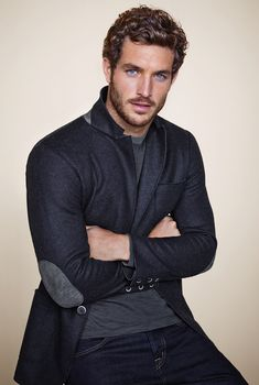 ♂ Masculine and elegance man's fashion apparel Justice Joslin for Falconeri nice patch details