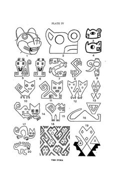 Peruvian art as shown on textiles and pottery. I love those Peruvian cats! Ancient Peruvian, Peruvian Art, Textile Patterns, Textile Art, Inca Art, Art Du Monde, Peruvian Textiles, Arts Ed, Aboriginal Art