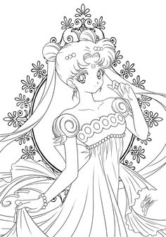 Sailor Moon Coloring Pages, Cute Coloring Pages, Animal Coloring Pages, Adult Coloring Pages, Coloring Books, Moon Sketches, Drawing Sketches, Drawings, Arte Sailor Moon