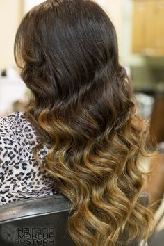 THIS is how you do the ombre hair!! No weird line between blond and brown!!