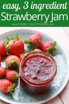 3 Ingredient Instant Pot Strawberry Jam - the easiest strawberry jam recipe ever! No pectin, no cornstarch, no artificial preservative, no added color. So much better than the store-bought. Awesome isn't it? What are you waiting for, let's get started. Video Recipe. Jam Recipes, Sweets Recipes, Holiday Recipes, Most Popular Recipes, Amazing Recipes, Favorite Recipes, Strawberry Jam Recipe, Good Food, Yummy Food