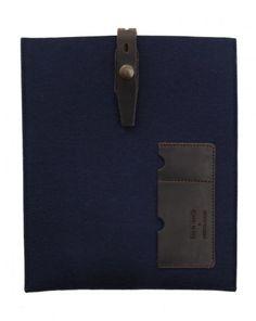 Housse iPad bleue en feutre Miky - Edition limitée BLEU DE CHAUFFE x MENLOOK - Menlook - Livraison gratuite