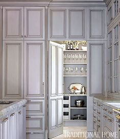 walk in pantry with painted gray ceiling, chandalier and liry ... Kitchen Ideas Walk In Pantry R E A on
