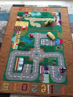 It& been nearly a year since I launched my Crochet Road Play Mat CAL (crochet-a-long) and since then I have been amazed by some of . Crochet Game, Love Crochet, Crochet Gifts, Crochet For Kids, Crochet Dolls, Knit Crochet, Crotchet, Crochet Stitches Patterns, Baby Kind