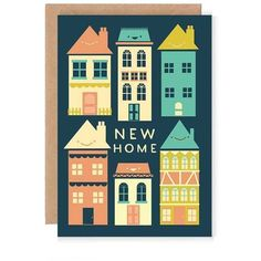 Stephanie Davies New Home Greetings Card ($5.18) ❤ liked on Polyvore featuring home, home decor and stationery