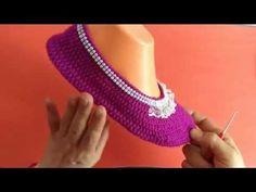 Yeni Patik Modeli/dantel süslemeli yapımı - YouTube