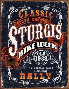 harley davidson props | Vintage Harley Davidson Sturgis Rally Tin Sign Replica | eBay