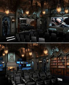 Nerdist » Some Geeky Home Theaters to Make You Jealous. I'd take anyone of these.