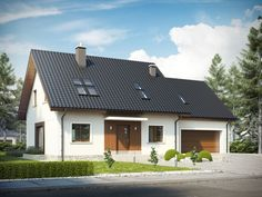 Wizualizacja AC Marcin G2 CE Good House, Modern Materials, Home Fashion, Home Projects, House Plans, Garage Doors, New Homes, Around The Worlds, House Design
