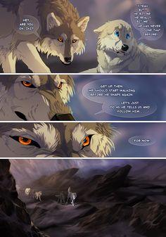 off-white by vesner Wolf Comics, Anime Comics, Anime Couples Manga, Cute Anime Couples, Anime Girls, Off White Comic, Wolf Poses, Demon Wolf, Wolf Artwork