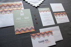 chevron wedding inspiration wedding decor details for the reception stationery suite
