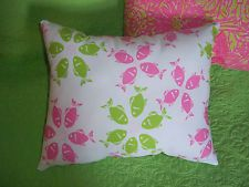 New throw pillow made with LILLY PULITZER Riding The Wave fabric