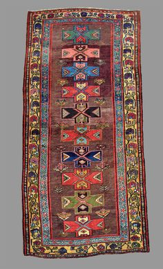Handwoven Kurdish Bidjar rug, late 19th C.