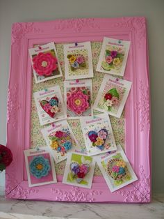 """Cute Idea. i have frames just like this that I""""m not using either! What a fabulous present to give someone too!"""