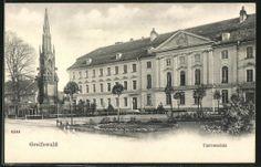 schöne AK Greifswald, Universität ungelaufen, datiert auf 1904, guter Zustand
