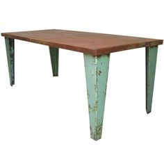 Love this french iron table in the style of Jean Prouve` #1stdibs #lisamendedesign