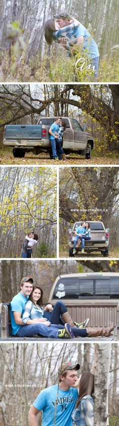 Something about a boy, his gal and his truck! Young love!