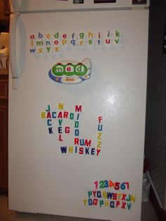 They inspire you to come up with fancy lettering on the fridge !..,lol