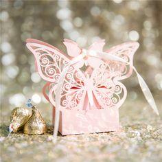 e9e71468a2e59 cheap romantic purple laser cut butterfly wedding favor box EWFB131 as low  as  0.48