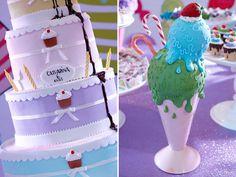 A Catarina, filha da top decoradora Graziella Beltrão, ganhou uma festinha doce para comemorar seus 6 aninhos! A decoração com o tema lollipop ficou por co