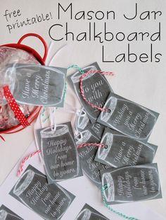 Crafts with Jars: Free Printable Mason Jar Chalkboard Gift Tags