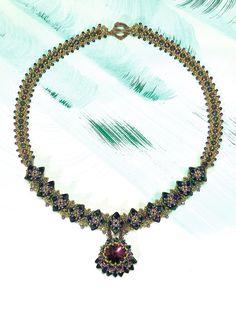 Monet's Water Lillies Necklace - Penny Dixon | Perlen Poesie 20