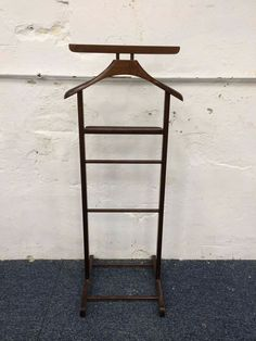 Vintage Shabby Painted Chic Valet Stand Butler Mens