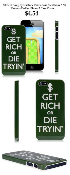 50 Cent Song Lyrics Cover Case Protective Dollar Famous Back Cover for iPhone 5 5C 5S #50cent #song #lyrics #protective #case #dollar #famous $4.54