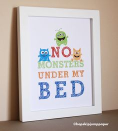 Baby is officially turning into a little boy.  Perhaps a room makeover with monsters?