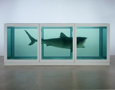 Damien Hirst - The impossibility of death in the mind of someone living/shark in formaldehyde. favorite conceptual art piece ever.