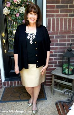 lovely dark color on top and shimery skirt and shoe http://www.findyourchic.com