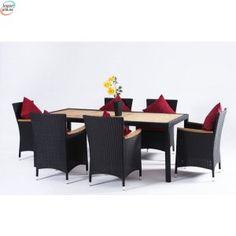 Rotting Spisegruppe med 6 stoler og alu ramme Outdoor Furniture Sets, Outdoor Decor, Home Decor, Decoration Home, Room Decor, Interior Design, Home Interiors, Interior Decorating