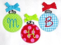 Christmas Ornament Trio Applique Design by trendystitchdesigns, $3.99