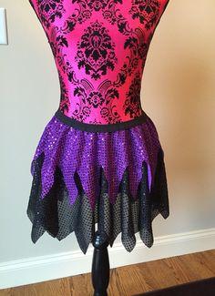 Ursula Running Skirt, Maleficent Running Skirt, Sparkle Running Skirt, 5K Skirt, Race Skirt, Princess Skirt, Blue Sparkle Skirt