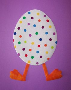 Fabric Applique TEMPLATE ONLY Duck In Easter Egg $1.50