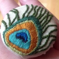 Hand embroidery ring  #embroidery #Jewellery #textiles