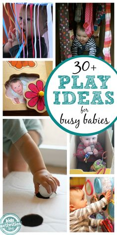 Over 30 ideas to keep baby happy!  There are 3 categories: problem solving, games, and exploring.  Each category is packed with activities for keeping the busiest of babies occupied and having fun!  This is a must pin!!