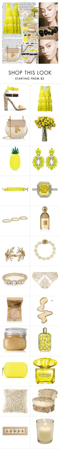 """""""Got me Fighting making nothing sacred We're tearing paint off the walls Nights are made of kiss and makeup It's on the edge of emotional"""" by labelsoflove ❤ liked on Polyvore featuring Zara, MSGM, Chloé, Monsoon, Elizabeth Cole, Mimco, J. Birnbach, Jennifer Fisher, Guerlain and Marchesa"""