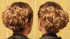 Вечерняя причёска на основе подвёрнутых хвостиков