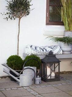 Homes and Roses: Lene Bjerre - Spring 2013 Outside Living, Outdoor Living, Porches, Garden Lanterns, Outdoor Spaces, Outdoor Decor, Terrace Garden, Garden Styles, Garden Inspiration