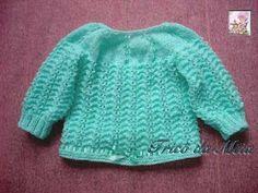 Receitas de trico fáceis de fazer e com passo a passo e video explicativo Baby Knitting Patterns, Knitting For Kids, Cardigan Bebe, Crochet Bebe, Crochet Slippers, Baby Sweaters, Crochet Projects, Tops, Fashion