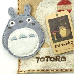 [My Neighbor Totoro] a mini-towel bus stop (steam shirring print applique towel handkerchief)
