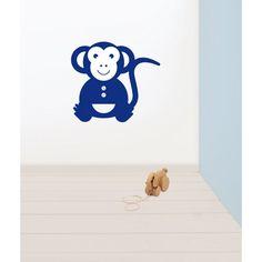 Muursticker aapje #muursticker #kinderkamer #dieren #kidzstijl
