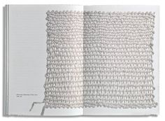 Sheila Hicks: 'Weaving as Metaphor'. This beautiful book showing Sheila Hicks' work was designed by Irma Boom and is a wonderful sculptural object in its own right.